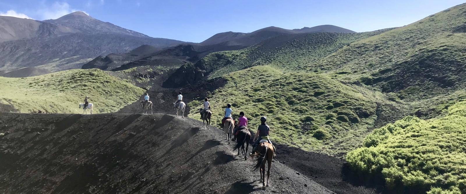 Horse riding Mount Etna